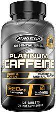 Caffeine Pills 220 Mg Energy Mental Focus Supplement 125 Serving 125 Tablets New