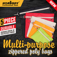 Multi-Purpose Zipper Tool Bags Set Organize Storage Pouch Canvas Tool Clip-On