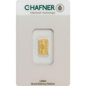C. Hafner Goldbarren 1g 999 Feingold in Coincard - Von Gold & Silber Karway