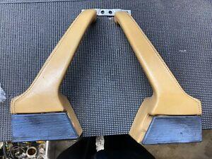Porsche 911 930 Tan Leather Door Interior Handles Left Right Pair