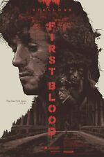 """FIRST BLOOD Sylvester Stallone REPRO CUSTOM SCREEN PRINT 27x41"""" quad poster"""