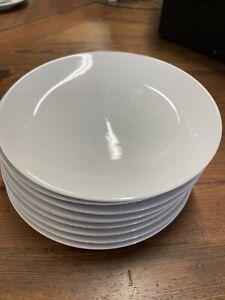 """9 Studio Nova Tivoli White dessert Bread plates 7"""" diameter"""