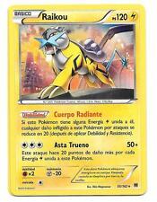 Pokemon RAIKOU 55/162 ! BREAKthrough Rara Holo Foil ESPAÑOL