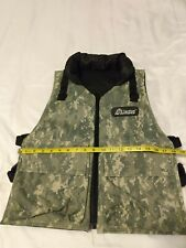 Tactical Performance Paintball Reversible Vest Camo Black Adjustable Straps