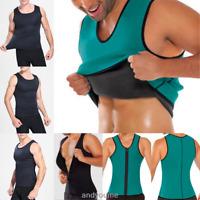Männer Gym Neopren Weste Sauna Sweat Shirt Body Shaper Korsett abnehmen Körperfo