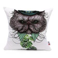 18x18 Throw Pillow Cover Leprechaun Cat Theme