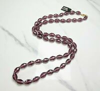 Lovely Vintage Jewellery Purple  Faceted Crystals Beaded Bohemian Glass Necklace