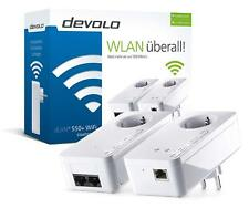 DEVOLO dLAN 550+ WiFi ac Starter Kit Weiss Powerline WLAN 2 x LAN / WLAN