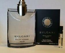 Bvlgari Pour Homme Soir 3.4 oz. New tester w/box(no cap) and Soir Sample .05 oz.