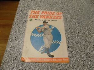 1949 LOU GEHRIG THE PRIDE OF THE YANKEES COMIC BOOK
