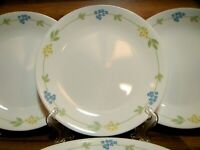 "SET OF 4 - CORNING CORELLE - SECRET GARDEN - 8 1/2"" LUNCHEON PLATES - EUC"