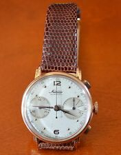 Vintage Minerva Chronograph wristwatch. 18K Rose gold. Fantastic condition.