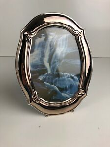 """Oneida Oval Silver Plated Tarnish Resistant 10"""" Picture Frame, Fits 8.5""""x6.5"""""""