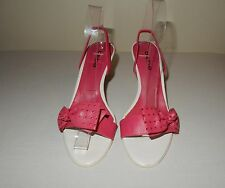 Bene Pink Strappy Heel Sandals shoes Size 7.5B