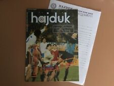 83/4 Semi-Final Hajduk Split v Tottenham Spurs 11/4/1984 plus blank team sheet
