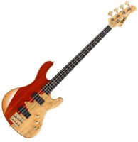 Cort Rithimic Nat Jeff Berlin Signature 4 String Electric Bass Paduck Spalted