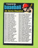 1971 Topps - 4th Series Checklist Card (#369)  EX-NrMT