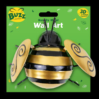 """6"""" Metal Bumble Bee Garden Wall Decorations Ornament Fence Wall Outdoor Summer"""