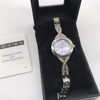 Sekonda Quartz Mother Of Pearl Dial Watch 4302G Bracelet Crystal Ladies