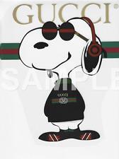 Snoopy vinyl iron on transfer