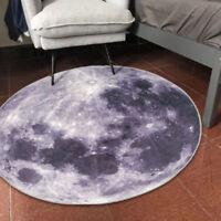 3D Carpet Chair Floor Mat Earth Round Rug Yoga Mat Room Moon Mat Decor w/