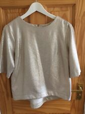 Ladies sparkly cream gold top ~ Size 12 ~ NEW no tags ~