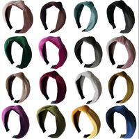 Women Headband Twist Hairband Bow Knot Bross Tie Velvet Cloth Headwrap Hair Hoop