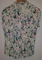 BNWT Blouse 12 White Floral<MJ2502
