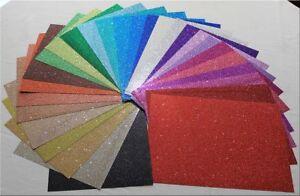 Glitterkarton Glitzerkarton  aus 42 Farben frei wählbar A4 / 200g von HEYDA NEU