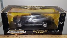 1/18 ERTL AMERICAN MUSCLE 1967 FORD SHELBY GT-500 BLACK gd