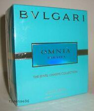 BVLGARI OMNIA PARAIBA THE JEWEL CHARMS PERFUME EDT .84 FL OZ SPRAY 25 ML NIB