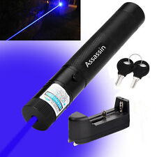 Blue Purple Laser Pointer 5mw 405nm Cat Toy Powerful Laser Pen + Battery+Charger