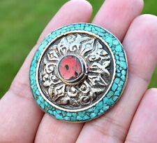 Turquoise Coral Ring Tibetan Silver Nepal Bohemian Boho Ethnic Big Tibet Jewelry