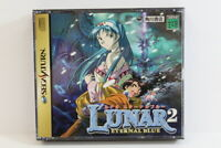 Lunar 2 Eternal Blue W/ Spine Map Sega Saturn SS Japan Import US Seller G7481