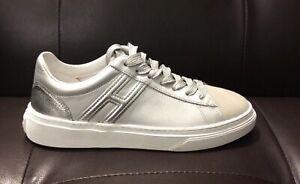 HOGAN Donna Sneaker Rebel argento SCONTO 50%