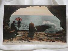 POSTCARD 1915-30 Paris Biarritz Vue Prise de la Grotte du Phare VINTAGE