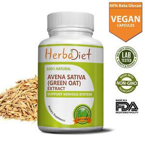 Avena Sativa OAT Seed 15:1 Extract Vegan Capsules Oatstraw 60% Beta Glucan