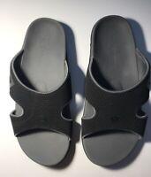 Spenco Women's Yumi Plus Flip Flop Sandals Size 9 Wide Black Onyx