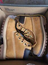"TIMBERLAND Classic Premium 6"" (Toddler Size 5C) Nubuck Waterproof Boots Wheat"