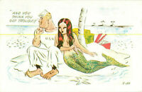 Postcard And You Think You Got Troubles! USN, Mermaid