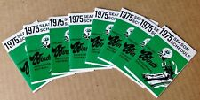 8 COUNT LOT OF 1975 CHICAGO WINDS WFL POCKET SCHEDULES NRMT CTA SPONSOR FIRE