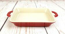 "Staub 15x11 Au Gratin Mini Rectangle Baking Dish Red 5.75"" x 4.25"" x 1"""