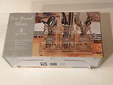 New (3) Silver Chalkboard Mason Jars 17 Oz. And (1) Cutlery Caddy