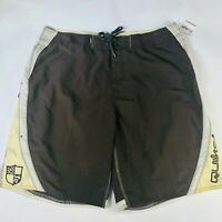 NWOT Quiksilver Edition Board Surf Swim Shorts 38 Brown