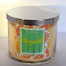 Honeysuckle Scented Candle Bath & Body Works 3 Wick Large Glass Jar Floral USA