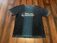 Bud Light Beer Men's Sz XL Short Sleeve Tye Dye T-Shirt Blue Alcohol Tee