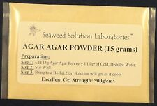 AGAR POWDER - 15 grams (will yield 1 Liter Nutrient Agar) - LABORATORY GRADE