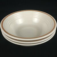 "Set of 3 VTG Cereal Bowls 6"" by The Cellar R.H. Macy Stoneware Japan FW-1240"