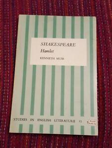 Shakespeare: Hamlet (Studies in English literature) - Muir, Kenneth 1967 Immacul