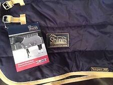 Shires Tempest Stable Rug Horse Blanket 200G Navy/Beige 72'' 9335